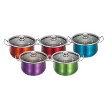 Stainless Steel Casserole with Color Painted Outside